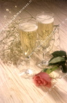 Champagne et rose, mariage.