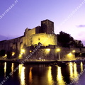 Chateau royal de Collioure, la nuit.