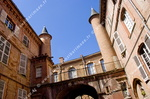 Cour interieure, hotel particulier, Toulouse
